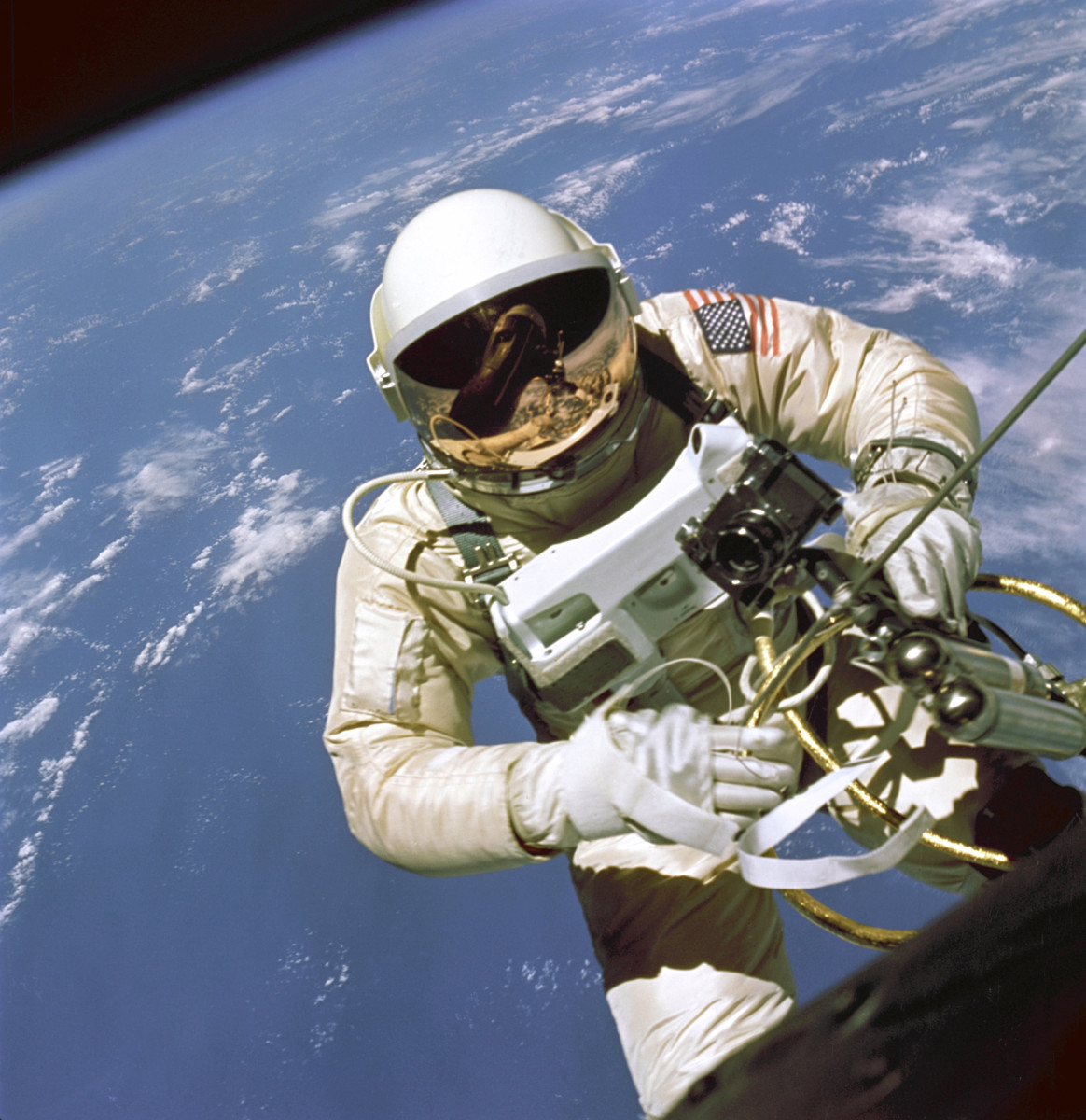 On June 3, 1965 Edward H. White II became the first American to step outside his spacecraft and let go, setting himself adrift in the zero gravity of space.