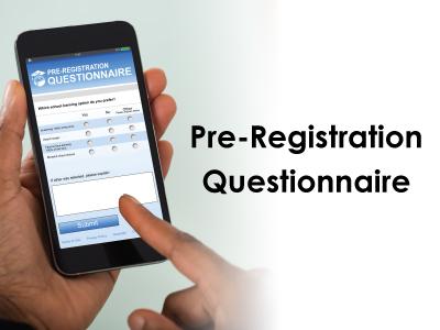Pre-Registration Questionnaire