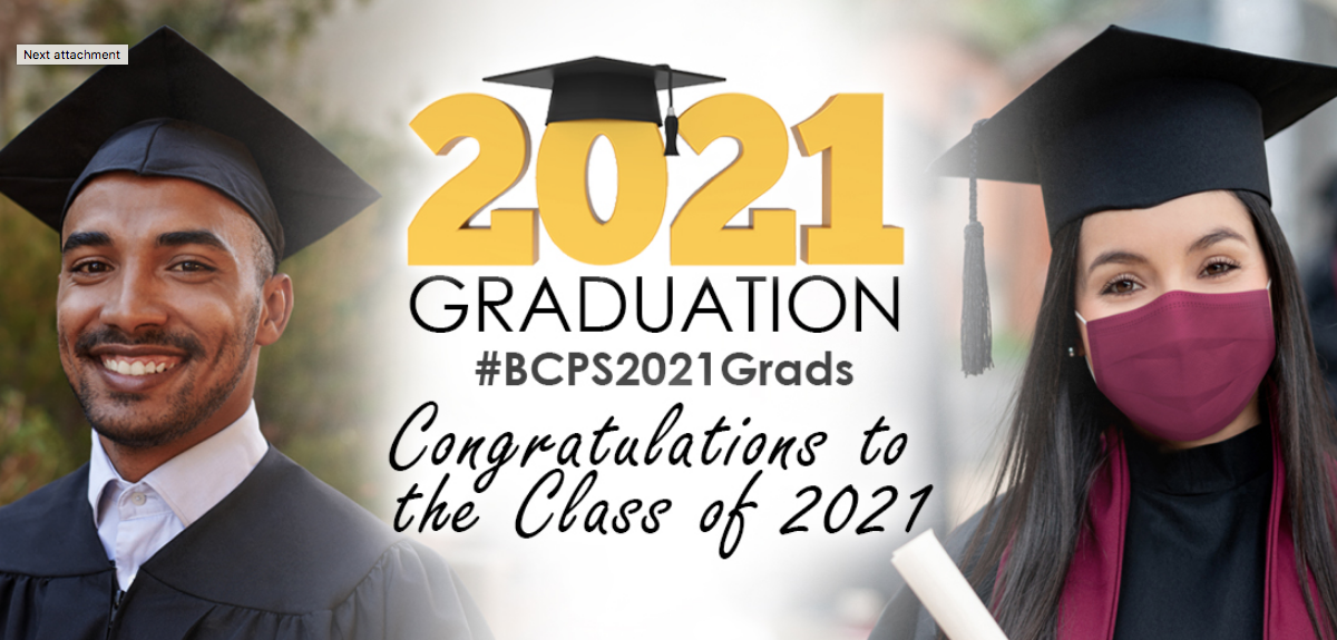 2021 Graduation #BCPS2021 Grads